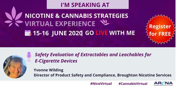 Nicotine and Cannabis Virtual Events